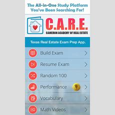 Care Texas Real Estate Exam Prep Apprecs