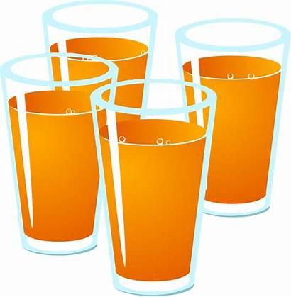 Juice Clipart Orange Drink Glass Alcoholic Non