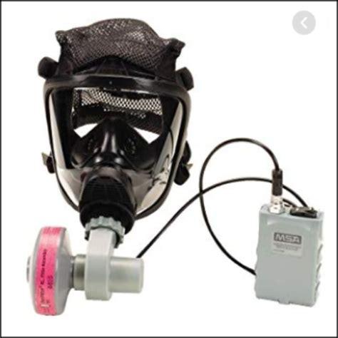 msa optimair mask mounted papr air purifying
