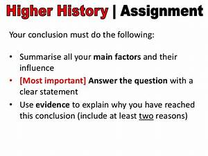 how to write a good conclusion for an assignment