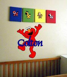 elmo room on pinterest retro bathtubs and faucets With kitchen colors with white cabinets with wall art stickers for nursery