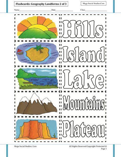 landforms flashcards 2 homeschooling earth science