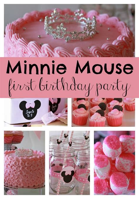 Sweet Minnie Mouse First Birthday Pretty Party