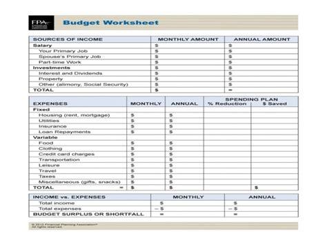 Financial Worksheet Usmc  Free Printable Worksheets