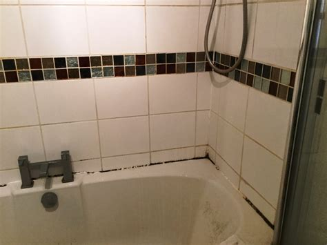 ceramic tiled bathroom with mould issues refreshed in
