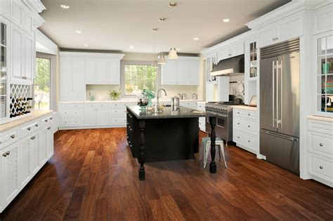 Kitchens With White Cabinets by Dakota White Ready To Assemble Kitchen Cabinets
