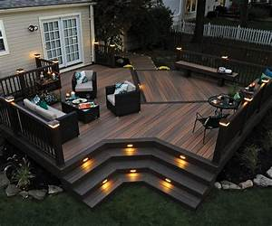 Composite Deck Bench Designs Composite Decking Railing Fastening Lighting