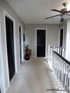 Black interior doors pewter walls white door frames for Interior paint ideas dark trim