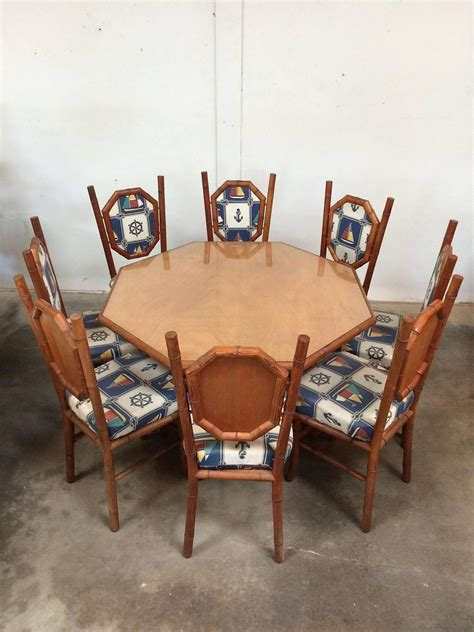 nautical themed card table and chairs in wood faux