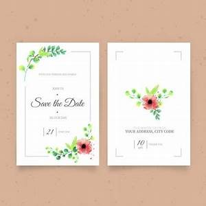 welcome spring flowers vector free download With cute wedding invitation with watercolor flowers