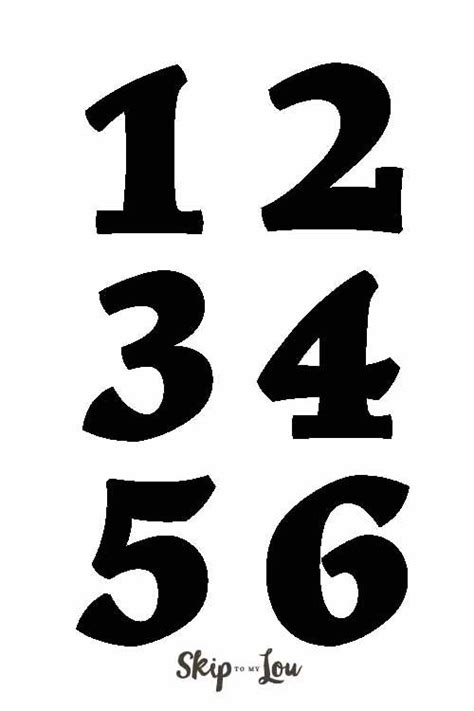 number templates    guide   diy projects     making