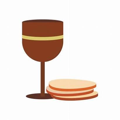 Wine Bread Communion Clip Illustrations Chalice Vector