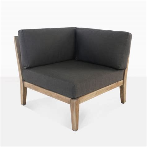 ventura reclaimed teak sectional corner lounge chair