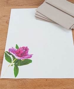 pink peony letter writing set stationery set by mypaperkittens With letter writing stationery sets