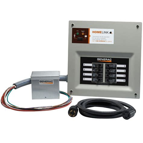 generac upgradeable manual transfer switch kit for 8 circuits 6854 the home depot