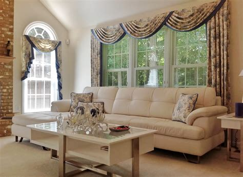 Custom Window Drapery by Custom Window Treatments Enhance Contemporary Family Rm