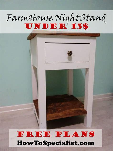 build  farmhouse nightstand howtospecialist