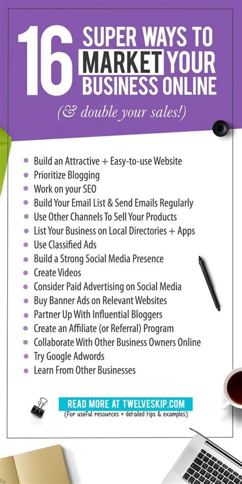 Market Website by 16 Ways To Market Your Business Your Sales