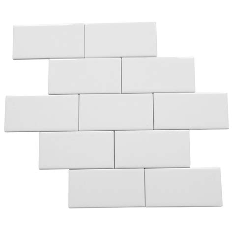 daltile 4x8 white subway tile daltile rittenhouse square arctic white 3 in x 6 in