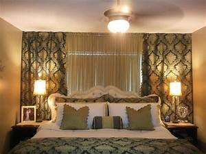 Wall to wall curtains in bedroom large and beautiful for Bedroom wall decorated by curtain ima