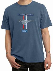 Ford Mustang Shirt Stripe Mens Pigment Dyed Tee T-Shirt - Ford Mustang Stripe Shirts