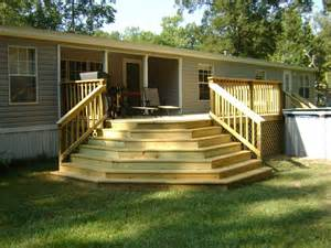 Mobile Home Deck Ideas Pictures by Covered Wood Deck On Mobile Home Studio Design