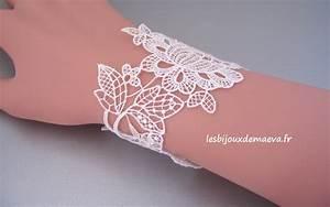 bracelet mariage dentelle feuillage With bracelet de mariage