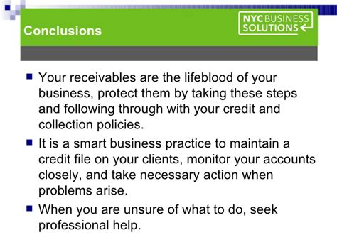 Credit And Collection Policies