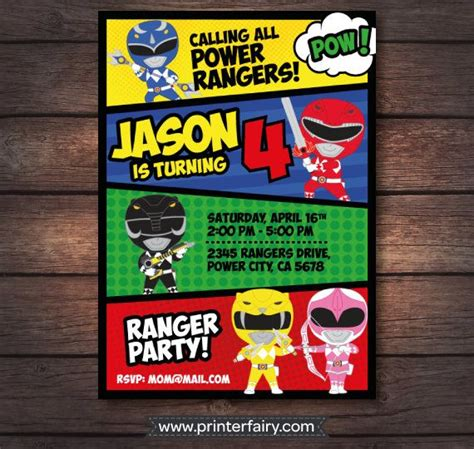 power ranger invitations template template new power rangers supplies with make your own invitation templates