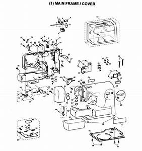 Brother Model Sc6600 Electronic Sewing Machines Genuine Parts