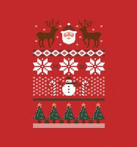 Ugly Christmas Sweater shirt from BustedTees Daily Shirts