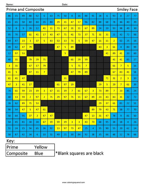 prime composite smiley number  operations coloring squared