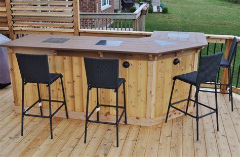 deck bars cedar deck bar  outdoor patio bar deck