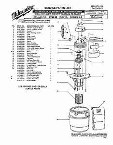 Milwaukee 8938-20 S-2 Parts