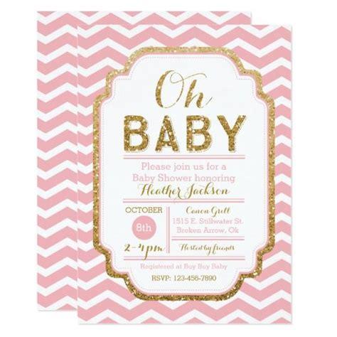 Invitations de baby shower de rose et d'or, bébé | Zazzle ...