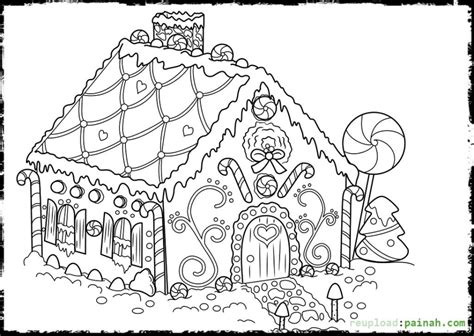 printable gingerbread house coloring pages  kids bkj