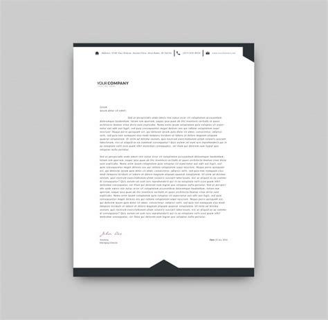 black  white letterhead template vector