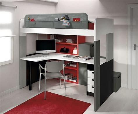 lit mezzanine 2 places bureau lit mezzanine 2 places avec bureau intégré bureau