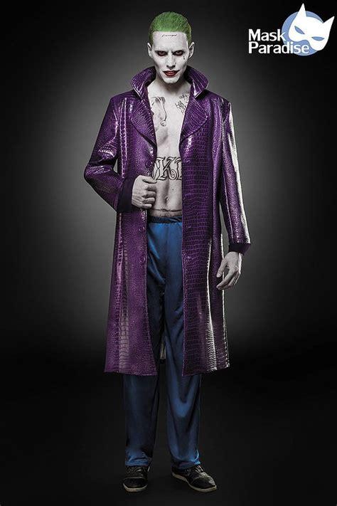 joker kostüm herren joker herren blau lila superhelden