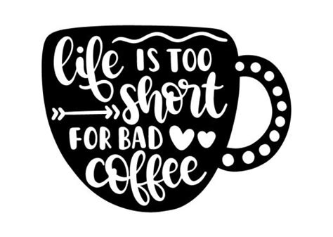 Bunny free svg cut file; Free SVG files - Coffee and Tea | Lovesvg.com | Coffee decal, Bad coffee, Coffee svg