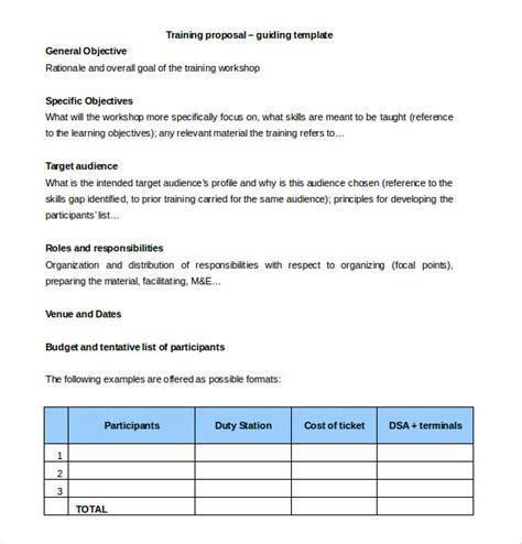 Training Budget Template Pdf by 35 Training Proposal Templates Pdf Doc Free