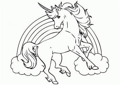 Coloring Unicorn Pages Princess