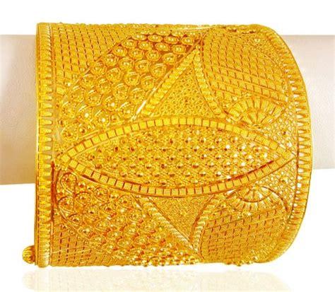 22k yellow gold wide kada 1pc ajba64212 us 5 977