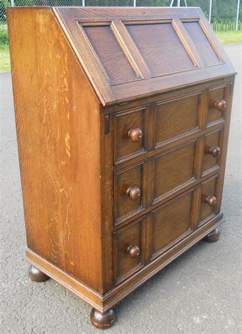 oak writing bureau furniture oak jacobean style writing bureau sold