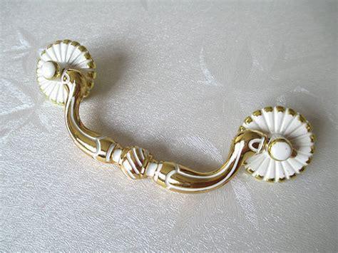 shabby chic dresser pulls 3 75 quot shabby chic dresser pulls drawer pull handles bail pulls white gold kitchen cabinet handle