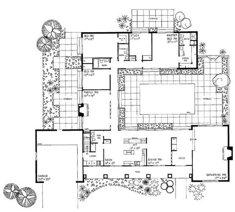 style house plans with interior courtyard pin by danita nixon on house plans