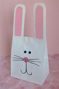 paper bag bunny With paper bag bunny template