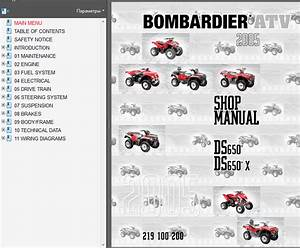 Brp Can Ds650x Service Manual Repair Manual Order