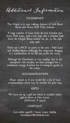 put   info card wedding invitations