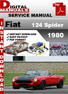 Fiat 124 Spider 1980 Factory Service Repair Manual